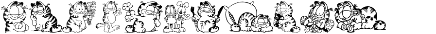 Garfield Hates Mondays Loves Fonts